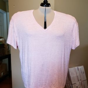 Pink and Cream variegated sweater shell